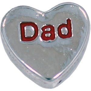 Picture of 'Dad' Heart Charm